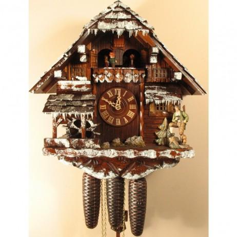 Rombach und Haas Winter Scene Cuckoo Clock with 8 Day Movement