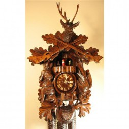 Rombach und Haas After the Hunt Cuckoo Clock with  8 Day Movement
