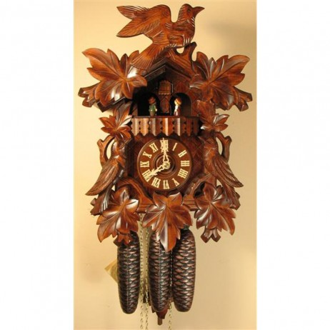 Rombach und Haas Birds and Animated Dancers Cuckoo Clock with 8 Day Movement