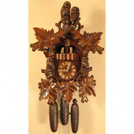 Rombach und Haas Owls Cuckoo Clock with 8 Day Movement