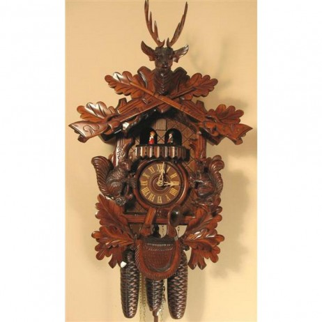 Rombach und Haas Cuckoo Clock with Squirrels and 8 Day Movement