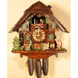 Rombach und Haas Cuckoo Clock with Watergirl and 8 Day Movement