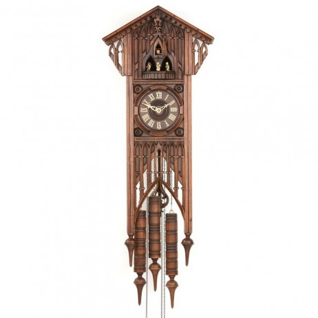 Gothic Bahnhusle Cuckoo Clock with 8 Day Movement