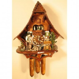 Rombach und Haas Cuckoo Clock with Woodchopper and 8 Day Movement