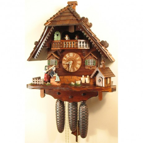 Rombach und Haas Angry Hausfrau Cuckoo Clock with 8 Day Movement