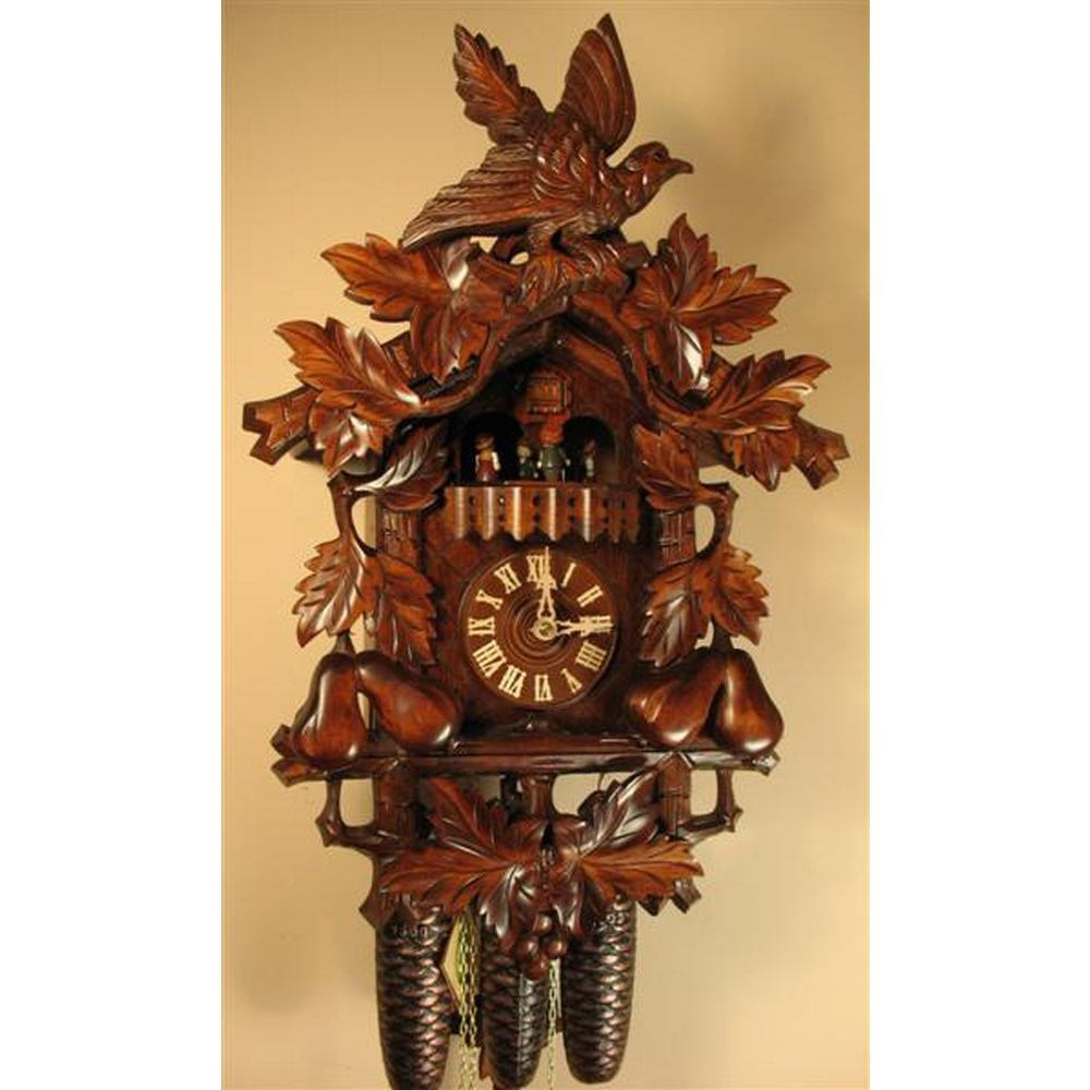 romach und haas pears cuckoo clock with 8 day movement 8384. Black Bedroom Furniture Sets. Home Design Ideas
