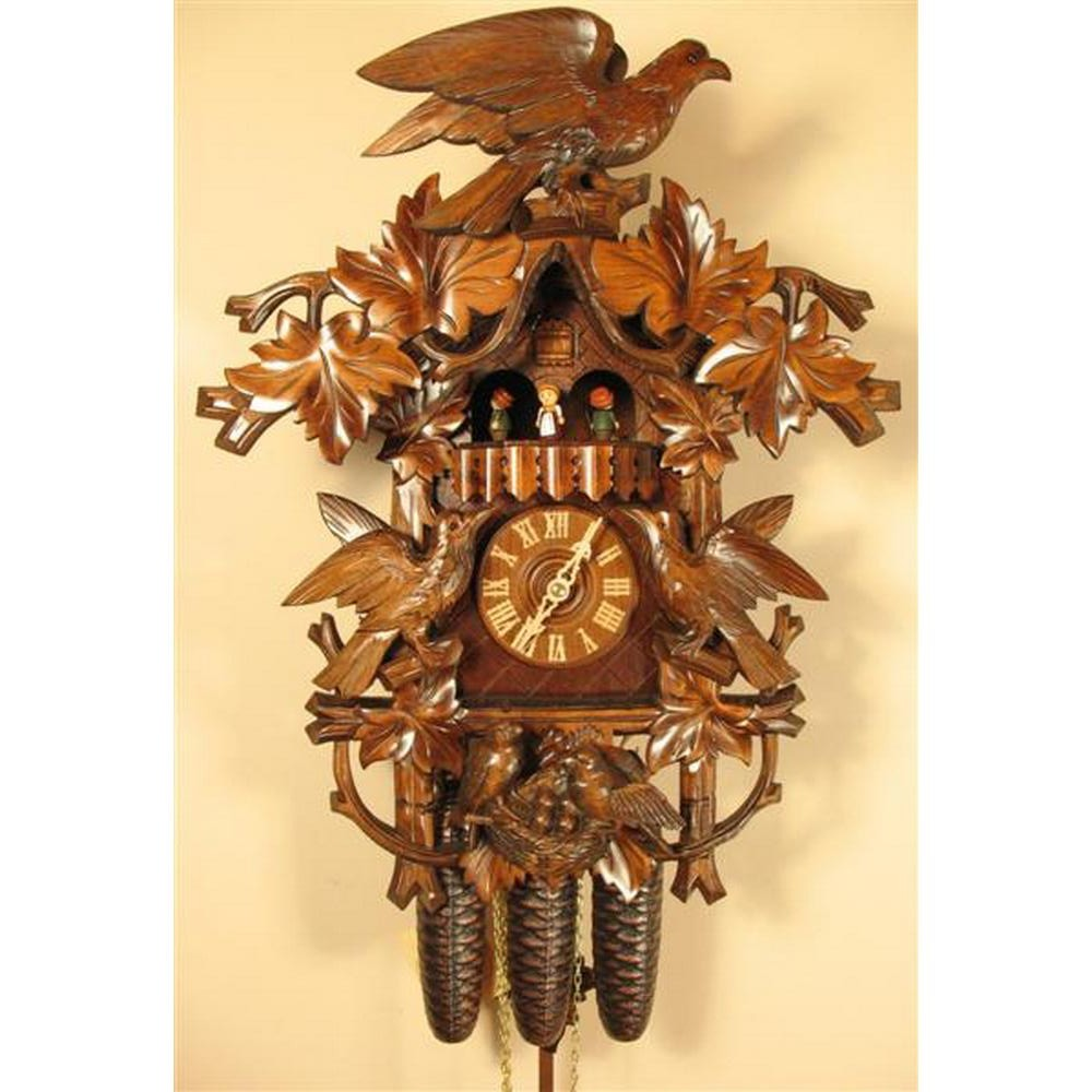 Romach Und Haas Hawk And Birds Cuckoo Clock With 8 Day Movement 8388