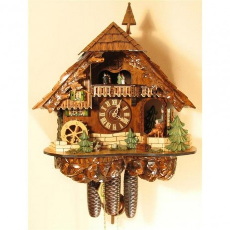 Rombach und Haas Cuckoo Clock with Clockpeddler and 8 Day Movement