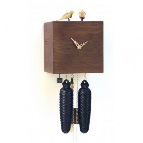 Free Birds - Bamboo Cuckoo Clock - Walnut - 8 day Movement