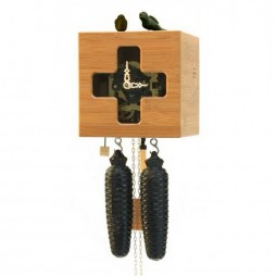 Free Birds - Bamboo Cuckoo Clock - Visible 8 day Movement