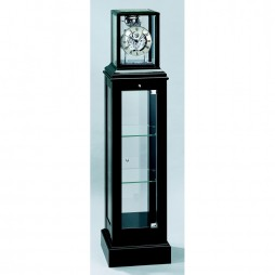 Kieninger Curio Mechanical Floor Clock - Black Lacquered Case