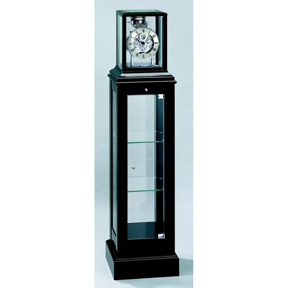 Kieninger Mechanical Curio Floor Clock - Black 1712-96-02
