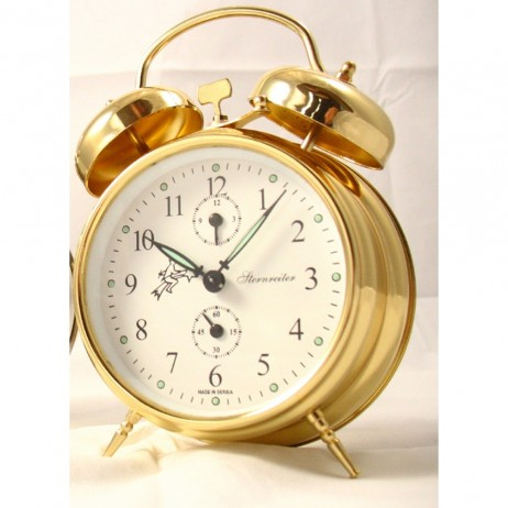 Sternreiter Double Bell Alarm Clock - Gold