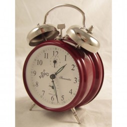 Sternreiter Double Bell Alarm Clock - Red