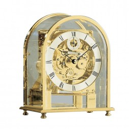 Kieninger Melodika Mechanical Mantel Clock - Milled And Silver-Plated Dial