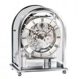 Kieninger Melodika Keywound Mantel Clock - Chrome Case 1226-02-04