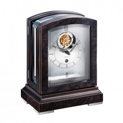 Kieninger Panoramika Tourbillon Mantel Clock - Black 1277-96-01
