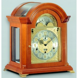 Kieninger Haffner Keywound Mantel Clock - Natural Cherry Finish