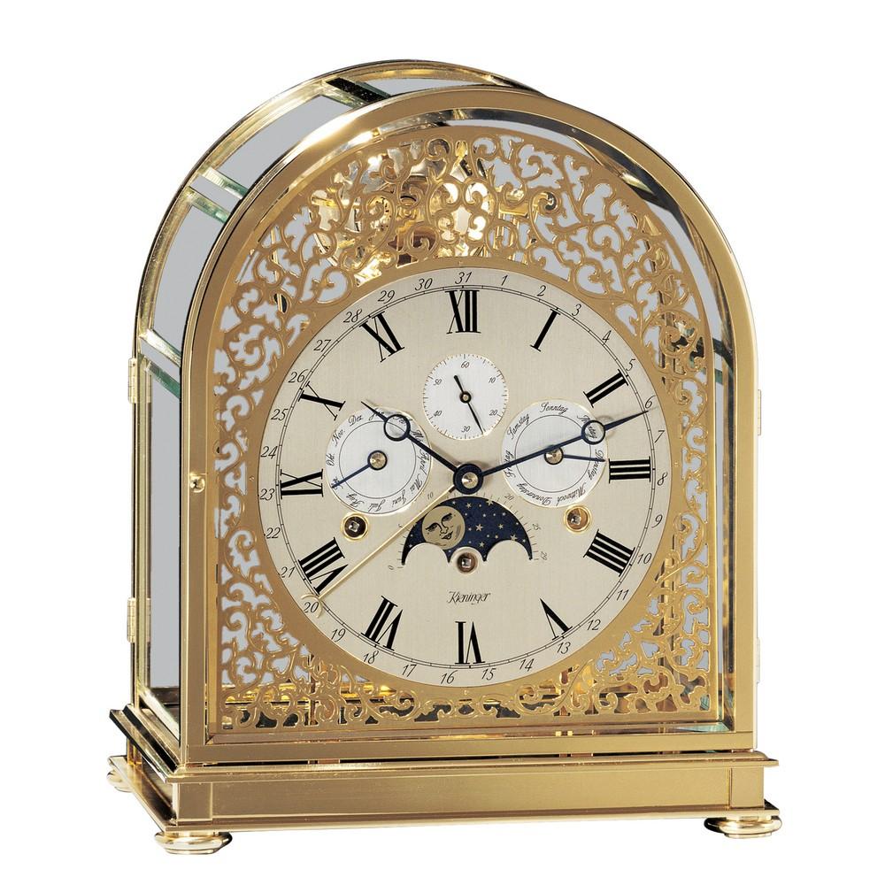 Kieninger Kupola Keywound Clock Gold Plated Case 1709 06 01