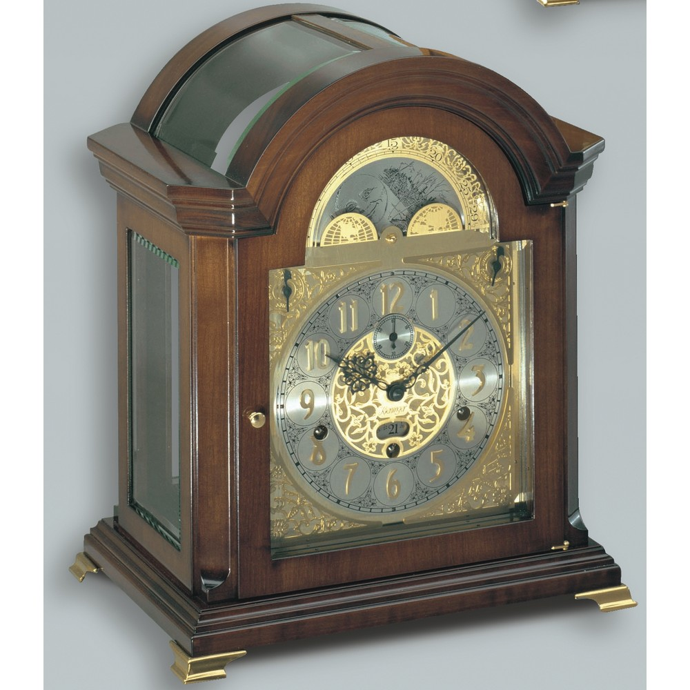 Kieninger mechanical clocks discount prices clockshops kieninger mozart mechanical mantel clock french walnut amipublicfo Images