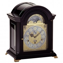 Kieninger Mozart Mechanical Mantel Clock - Black Lacquered Finish