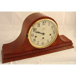 Sternreiter Brahms Mechanical Tambour Mantel Clock - Oak Finish