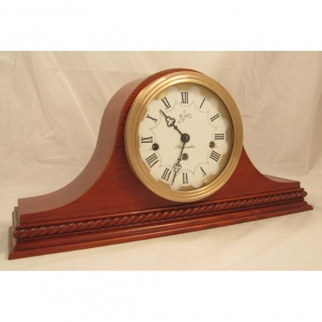 Sternreiter Verdi Mechanical Tambour Mantel Clock - American Oak
