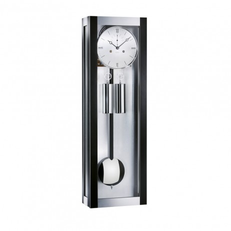 Kieninger Seattle Mechanical Weight-driven Regulator Wall Clock - Black Laquer With Brushed