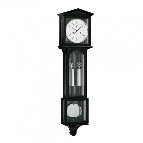 Kieninger Laterndl Mechanical Weight-driven Regulator Wall Clock - Black Lacquered Finish