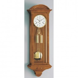Kieninger Chesterfield Mechanical Weight-driven Regulator Wall Clock - Natural Cherry