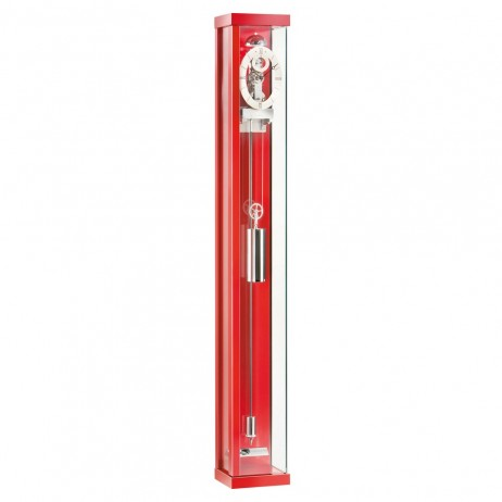 Kieninger Asymtrique Mechanical Weight-driven Regulator Wall Clock - Red Lacquer