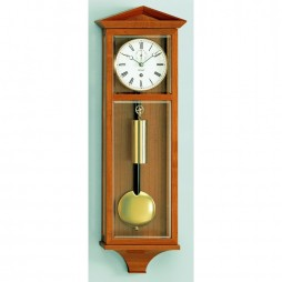 Kieninger Dachl Mechanical Weight-driven Regulator Wall Clock - Natural Cherry Finish