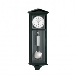 Kieninger Dachl Mechanical Weight-driven Regulator Wall Clock - Black Lacquer Finish
