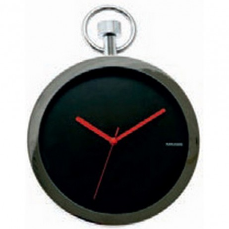 Pocket Watch Wall Clock - Black