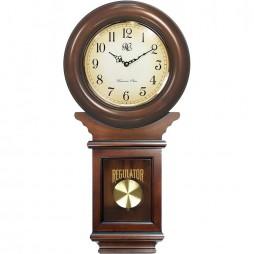 Classic Schoolhouse Regulator Wall Clock - Cherry Finish