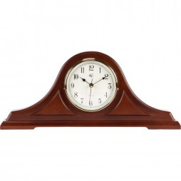 Radio-controlled Tambour Mantel Clock with Cherry Finish
