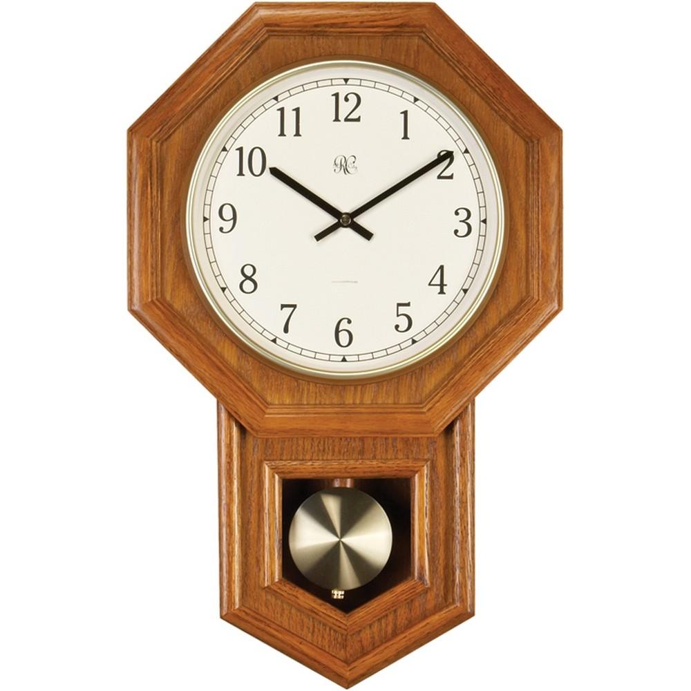 Radio Controlled Schoolhouse Oak Wall Clock 801 403o