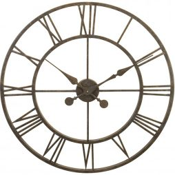 Indoor Metal Skeleton Tower Wall Clock - 30 Inch Diameter - L28-30