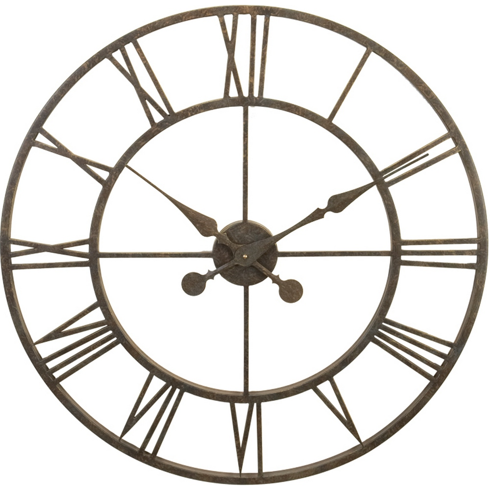 Wrought Iron Wall Clock L28 30 Clockshops Com