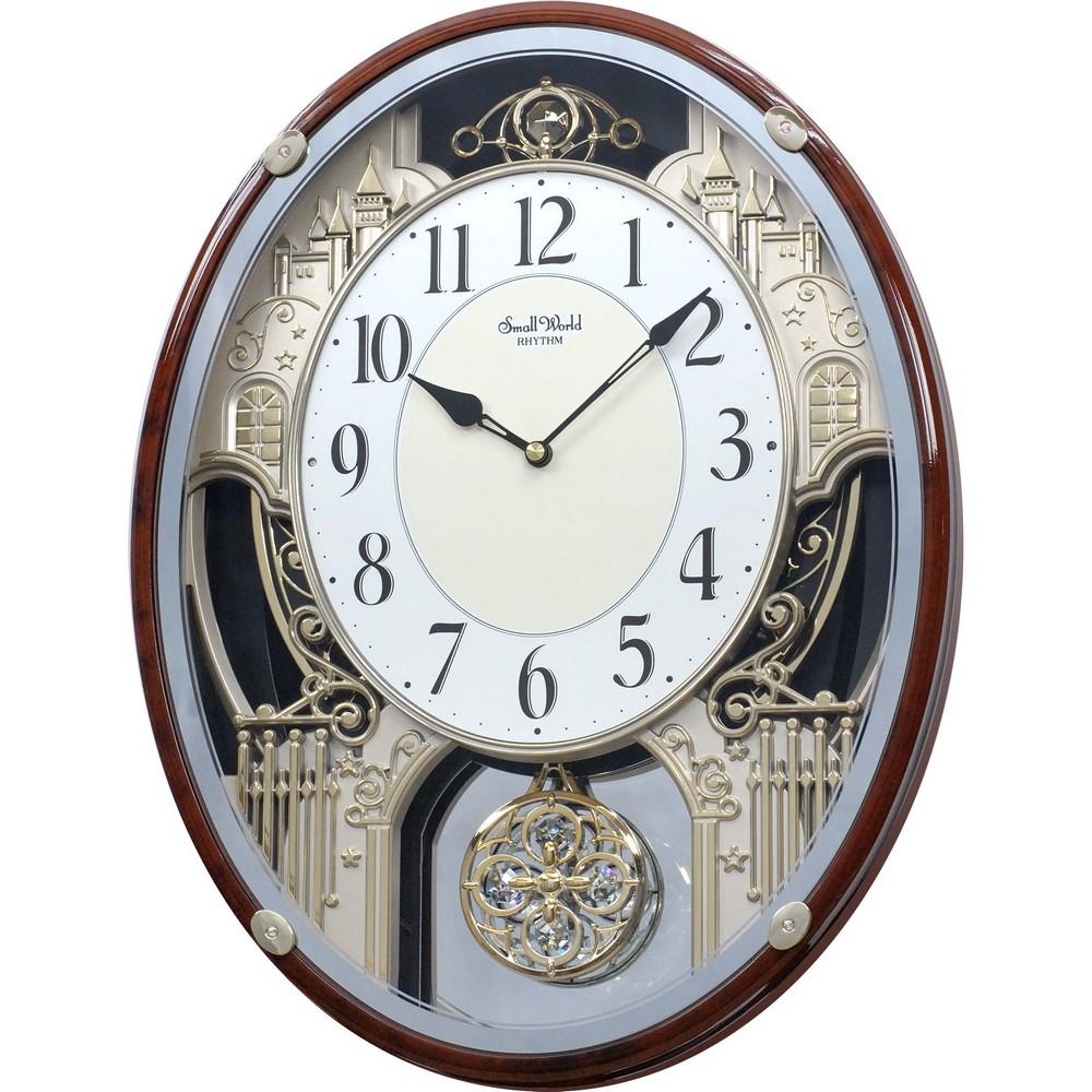 Rhythm Chateau Musical Motion Clock 4mh865wd23
