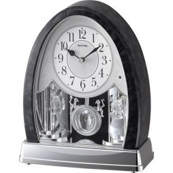 Marble Crystal Bells Musical Motion clock 4RJ637WU08