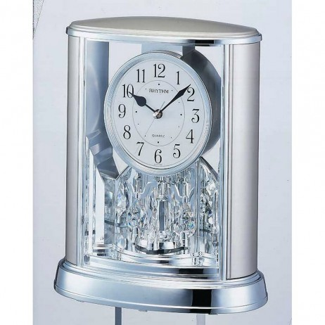 Silver Teardrop Contemporary Motion clock 4SG724WR19