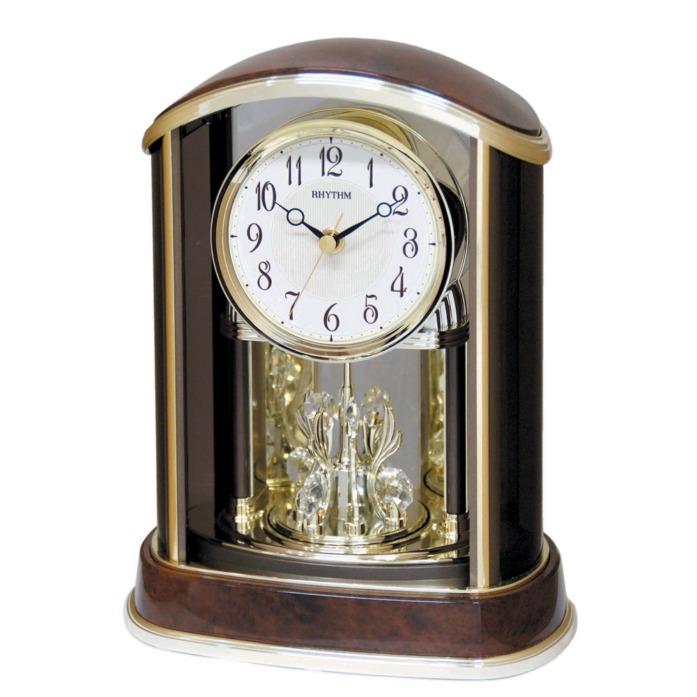 Rhythm Crystal Flare Contemporary Motion Table Clock
