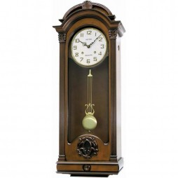 WSM Palermo Wooden Musical Clock CMJ397CR06