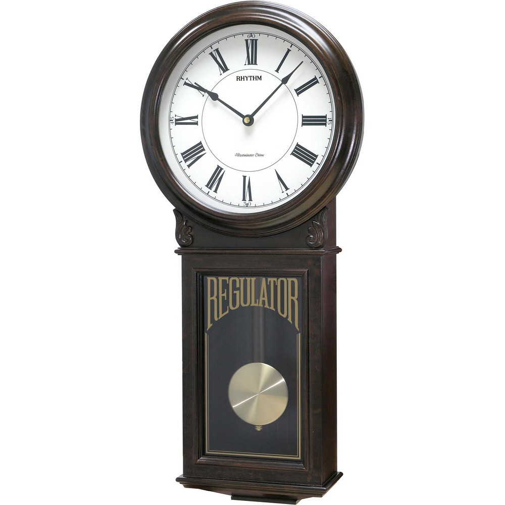 rhythm wsm examplar wooden musical wall clock