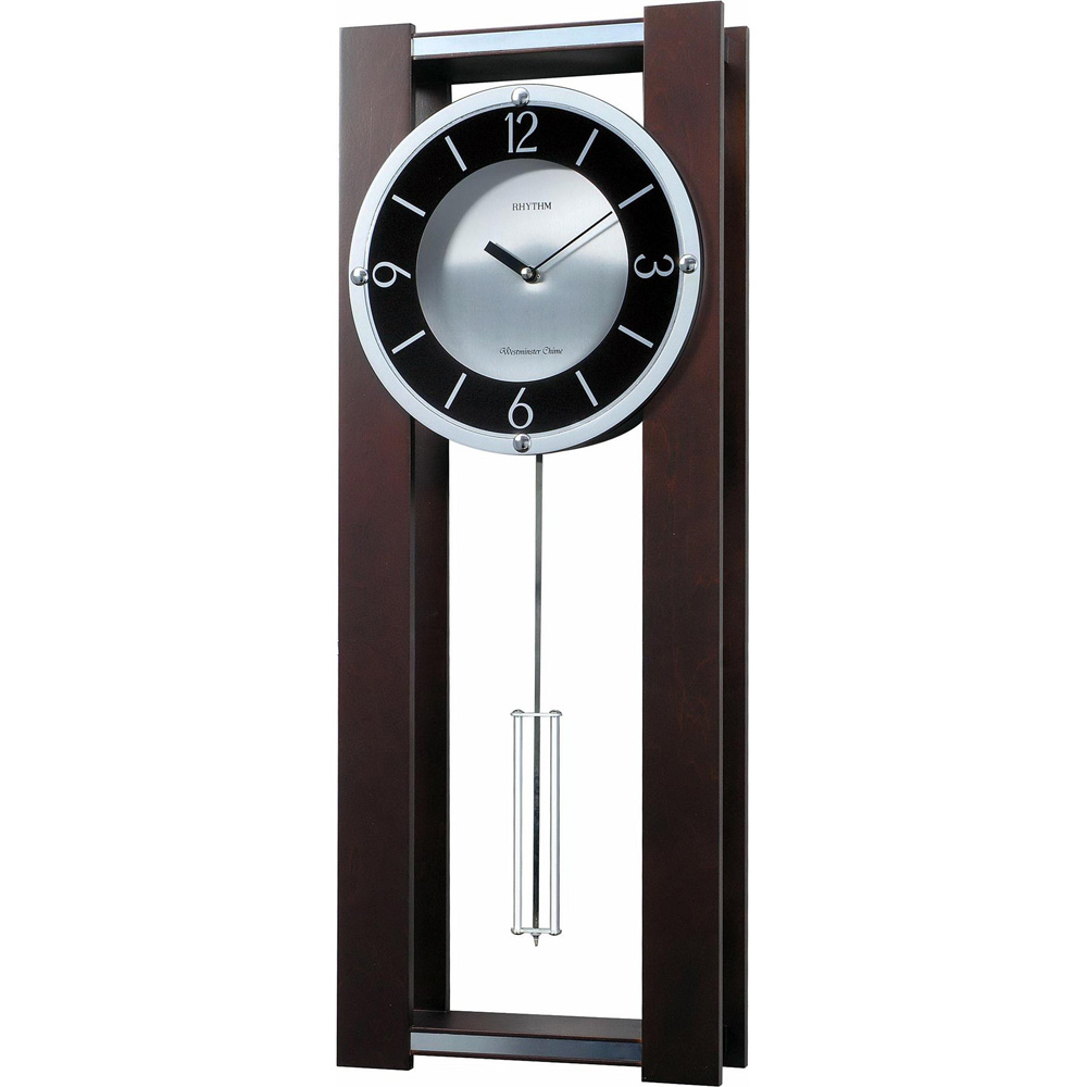 pendulum wall clock  howard miller hermle bulova  clockshopscom - espresso ii contemporary musical wall clock cmjur