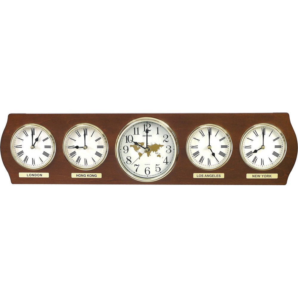 Time Zones Wall Clock Cmw Nr