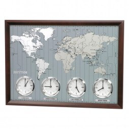 Around The World II Time Zone Wall Clock CMW903UR06