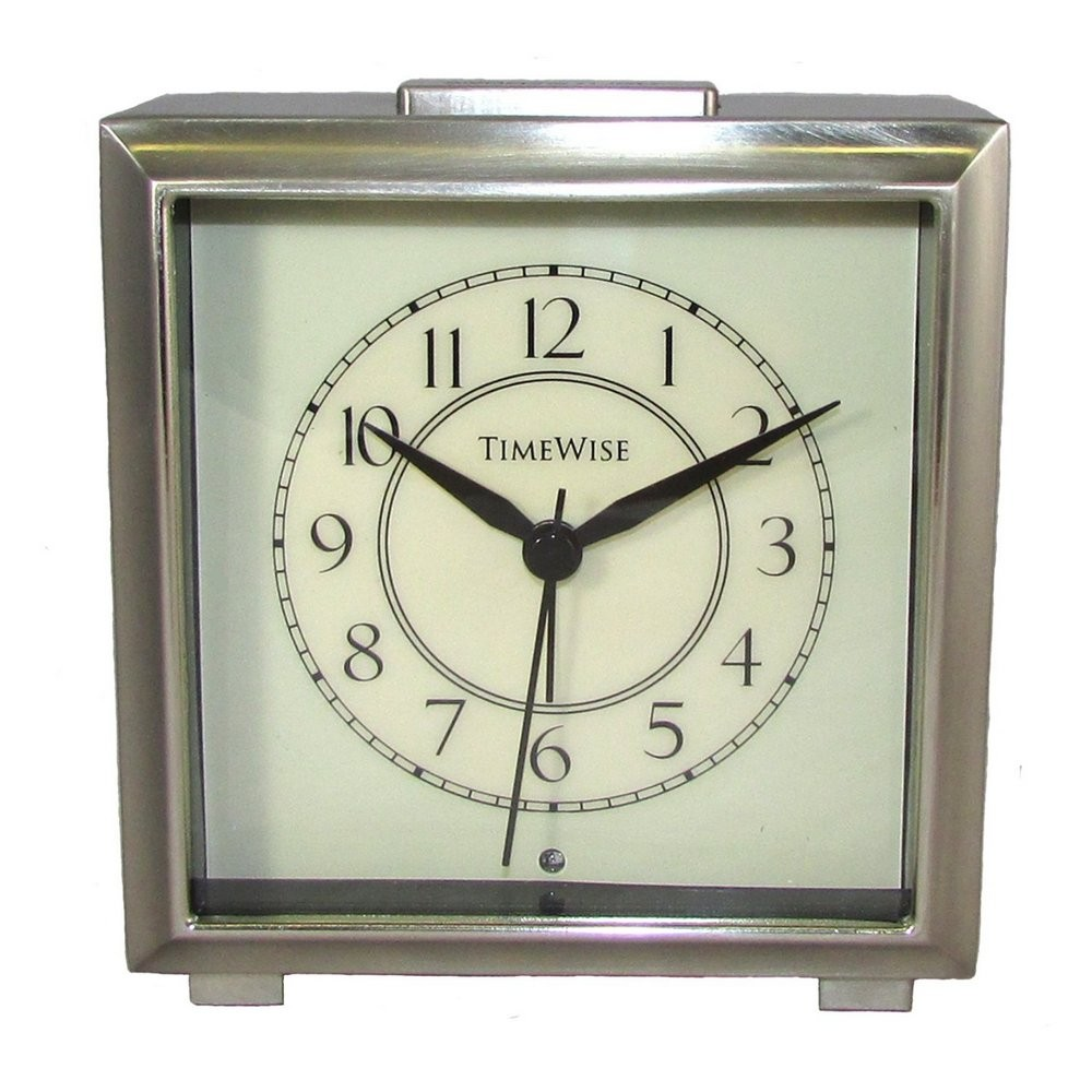 Monarch Alarm Clock Brushed Nickel TW13003