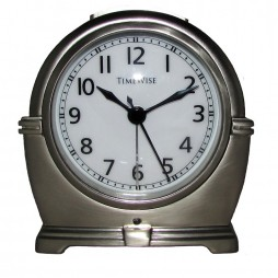 Alarm Clock - Antero Metal Alarm Clock Bushed Nickel